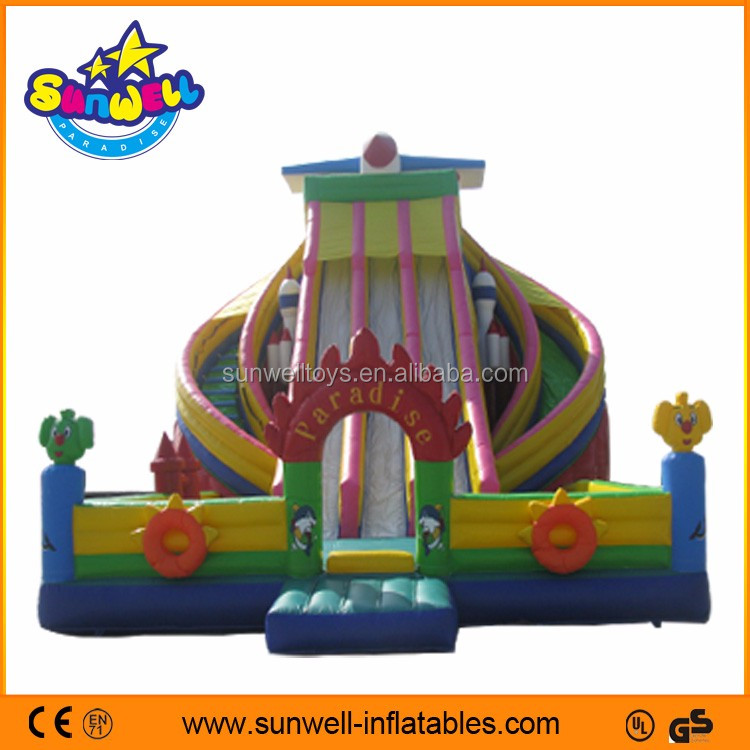Exciting games durable PVC kids inflatable slide