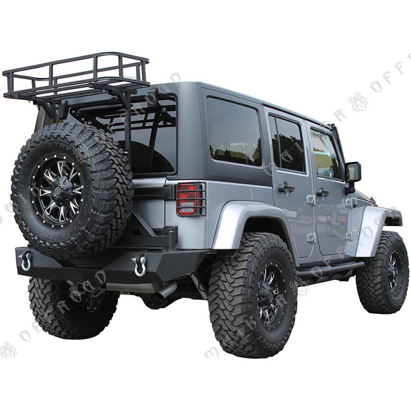 bagages de toit de voiture porte bagages 4x4 pour jeep wrangler jk pneu transporteur pour jeep. Black Bedroom Furniture Sets. Home Design Ideas