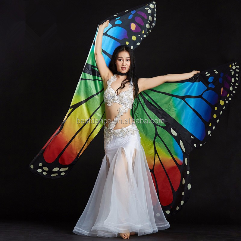 New LED Wings Belly Dance Costume Egyptian Isis Wing fairy wings Angel Isis Wing
