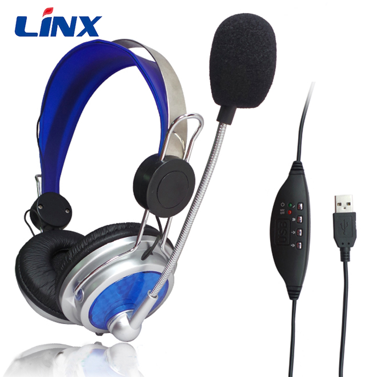 USB Gaming usb ear sets with Color Box Packing