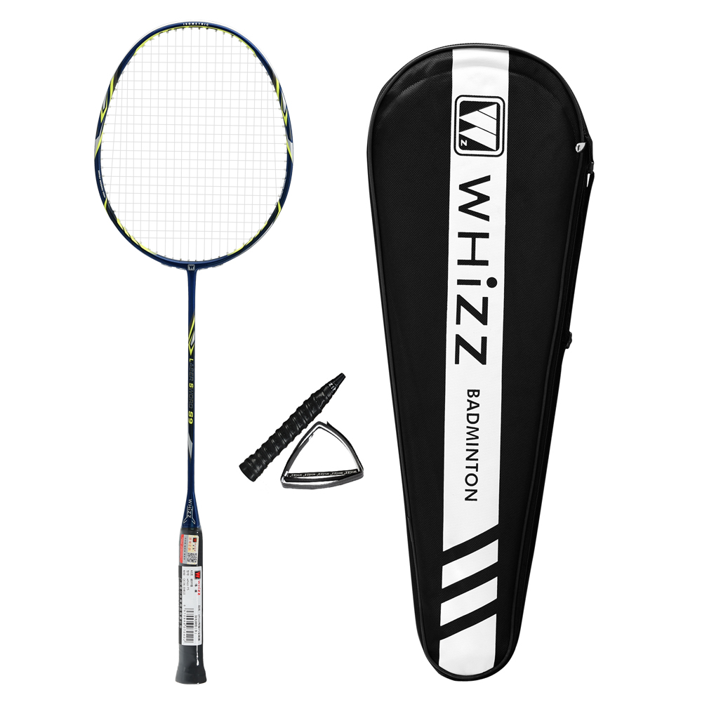 Whizz new model S9 carbon fiber handle badminton set with racket covers фото