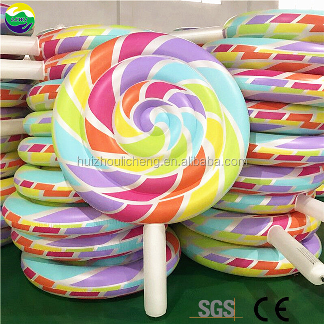 China Heavy Duty Rainbow Explosion Lollipop Float For Party