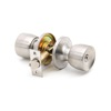 stainless steel satin Nickel plated Tulip Style Entrance Door lockset Security Round cylindrical ball door knob lock