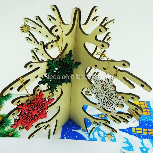 wood nature color Christmas ornament party decoration