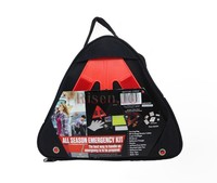 Car emergency safety kit with warning triangle