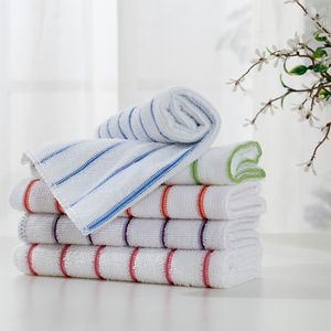 Custom elegant microfiber all-purpose towel stripes design face cloth microfibre wash cleaning towel for hand gift towel sets