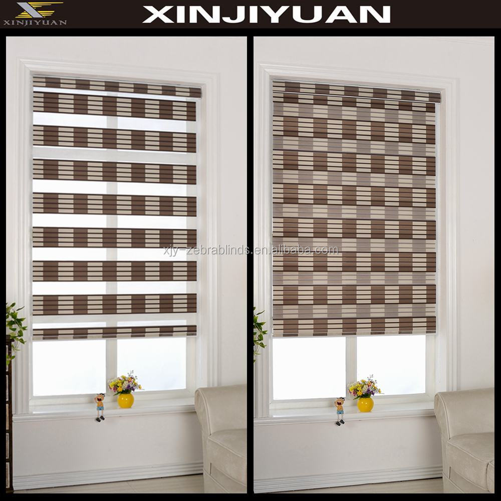 Zebra fabric roller blinds for home decor with cheap prices