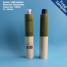 120ml aluminum color cream tube with plastic cap