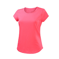 OEM blank colors behind the hollow design ladies women round neck t shirt