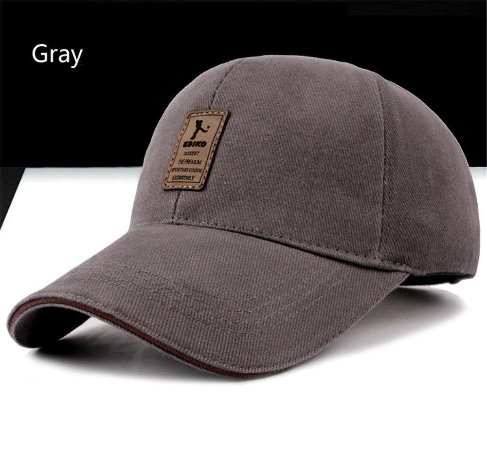Surborder Shop Blank Adjustable Plain Snapback Hats Caps Gray