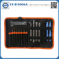 16 in1 Mobile Phone Repair Tool Bag Kit Screwdriver Set Tweezers Spudger Scraper for Apple iPhone Mac Laptop PC Tablet Repair