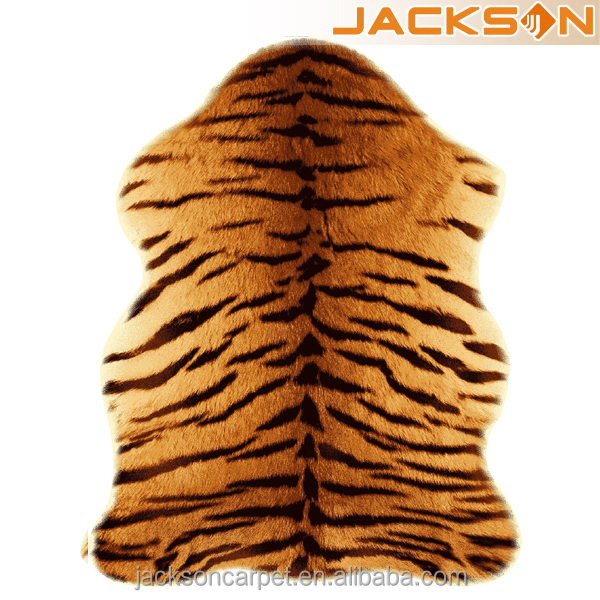 Polyester Printed Faux Tiger Skin Fur Rug Animal Rugs Product On Alibaba