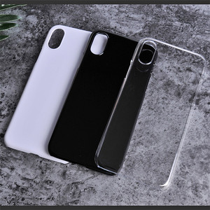 JESOY Plain Plastic Transparent Blank Cell Phone Cases For iphone 5 5s 6 6s 7 8 X UV Printing