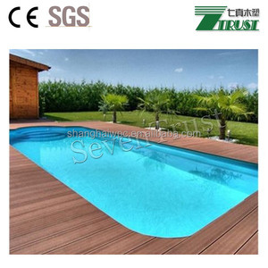 Factory price fire-resistant wood plastic composite aluminum trailer decking wpc crack-resistant decking
