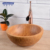 Round waterproof anti-cracking bamboo bathroom basins