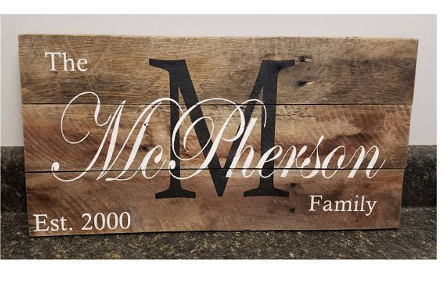 "Personalized Wood Sign 11"" X 18"", Custom Name Wood Sign,Last Name Sign, Wedding Gift Sign, Established Date Family Sign, Anniversary Gift, Rustic"