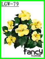 Wholesale silk artificial hibiscus flowers