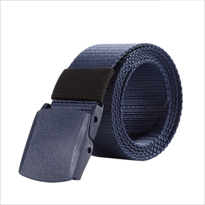 Factory nylon webbing braided waist belt with plastic buckle