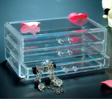 clear plastic jewelry and cosmetic organizer