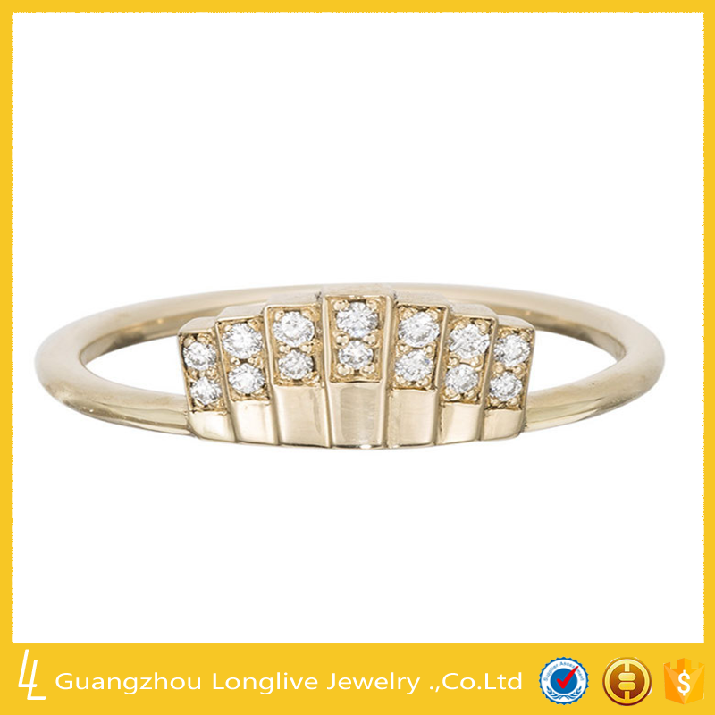 Guangzhou jewelry wholesale cz ring 2 gram gold ring for women