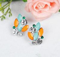 2015 indian jewellery wholesale garnet earring east indian earrings