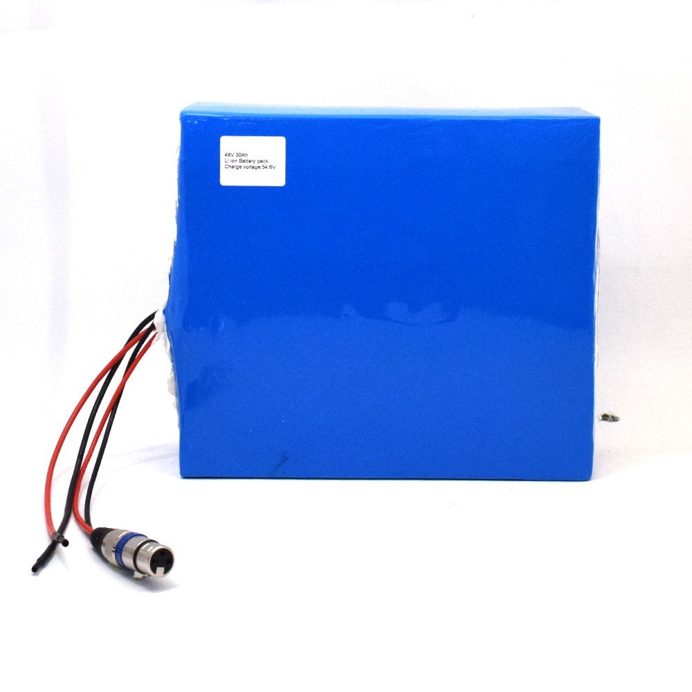 Rechargeable lithium li ion 48v 30ah 1000W 1500W 1600W lithium battery electric bike battery pack for electric scooter