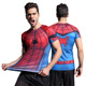 2016 Superhero Muscle 3D Printed Short Sleeve Shirt Marvel Superman/bat-man/Spiderman Black Panther Shirts