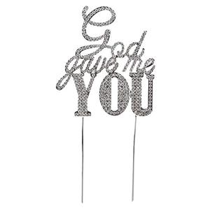 2019 new products sparkle rhinestone God Gave Me You cake topper for wedding decoration
