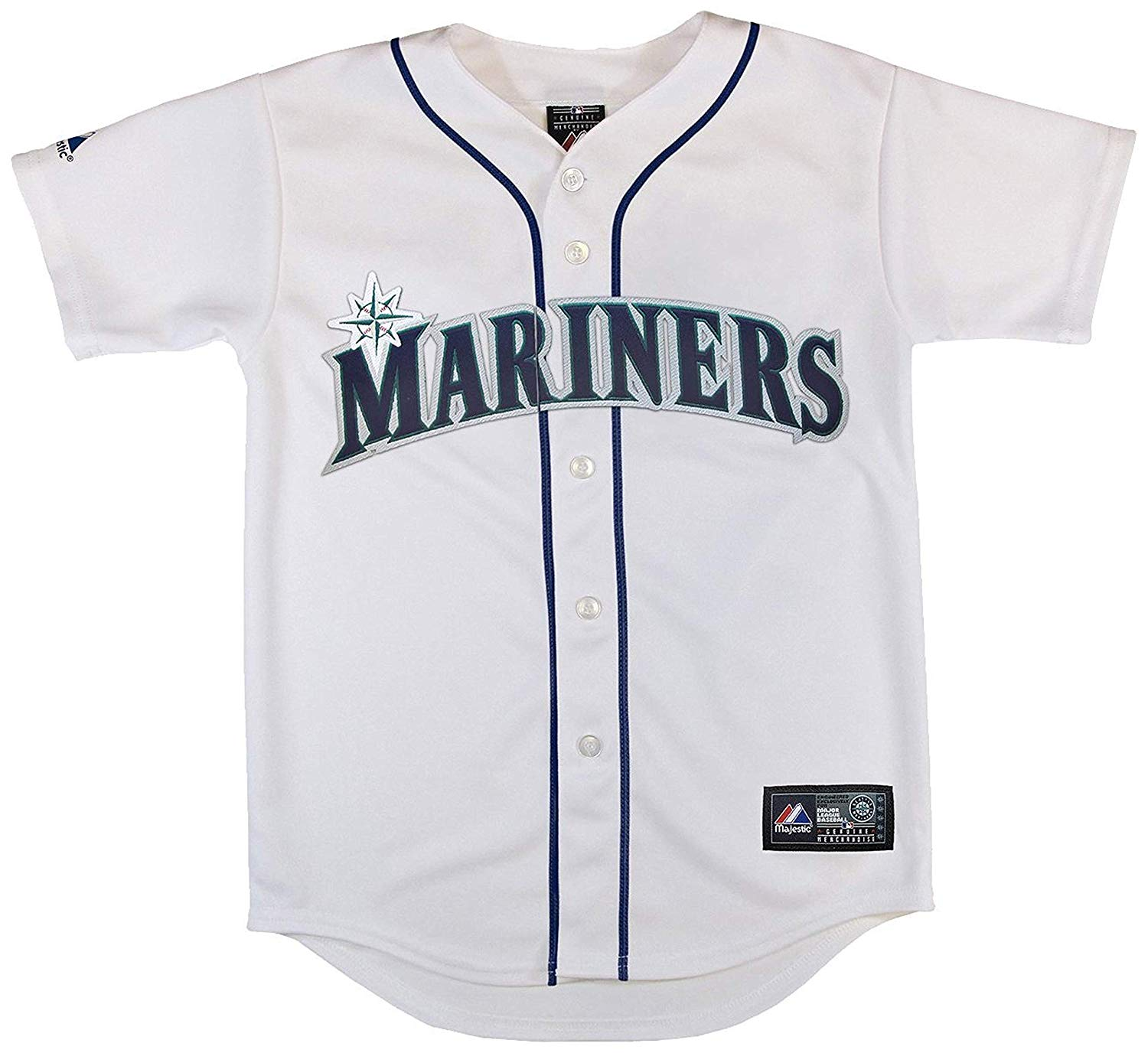 30a9de678a9 Get Quotations · Outerstuff Seattle Mariners Blank White Kids Authentic  Home Jersey