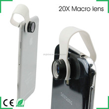 smart phone accessories mobile photographic gadget for iphone 6 microscope 20x macro lens with cellphone lens clip mounts