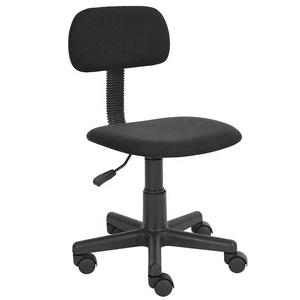 Office Staff Working Chair Dimensions Ergonomic Clerk for Worker Fabric Padded Cheap Swivel Typist Chair without Armrest