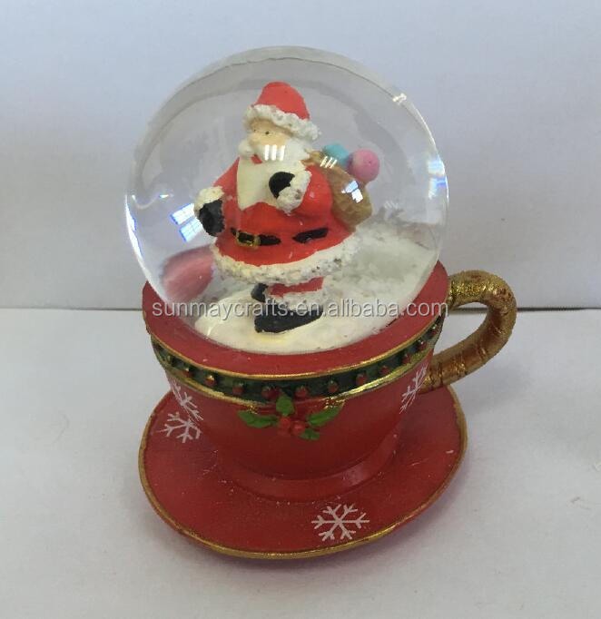 2017 hot sale Christmas polyresin Santa Claus statue for deocration