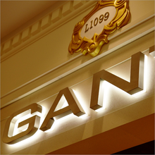Rose gold Led Letters backlight <span class=keywords><strong>logo</strong></span> Product Naam en Waterdichte LED Modules lichtbron rose gold brief teken