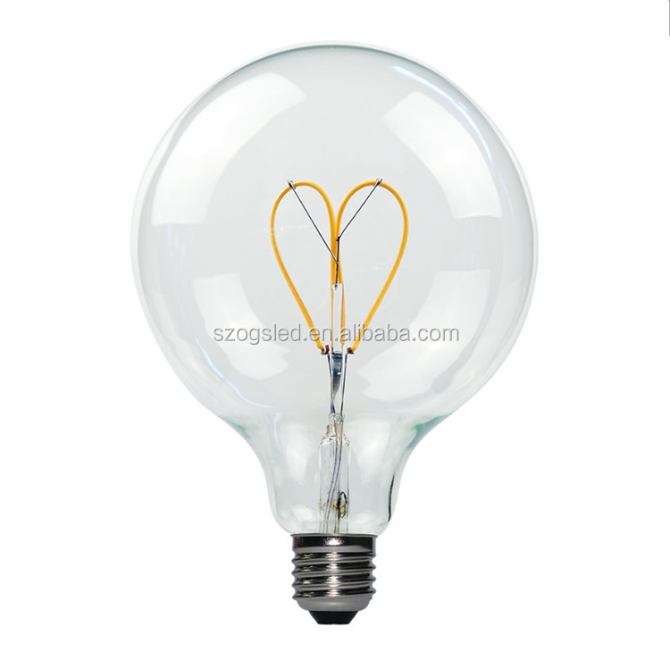 Flat Top Clear Light Soft Filament Dimmable Led Bulb