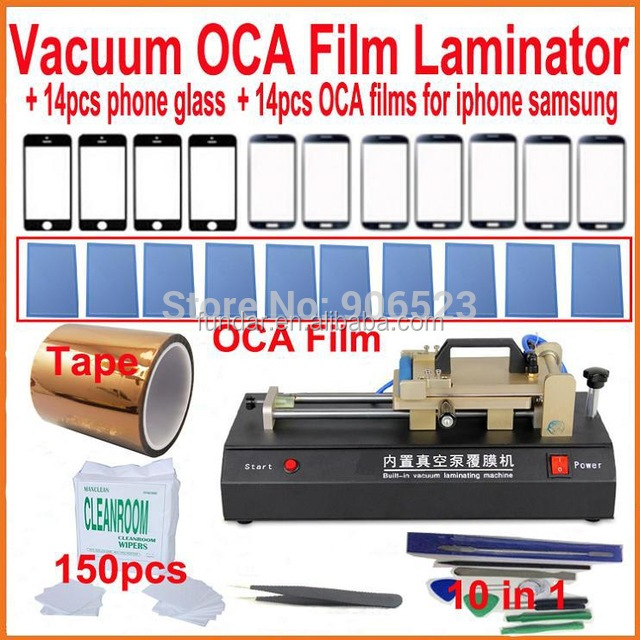 Full set 32 in 1 Built-in Vacuum Film Laminating Machine for Laminate Polarized Film OCA Laminator for iphone 6 plus