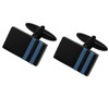 Classic high end black resin custom cufflinks for men