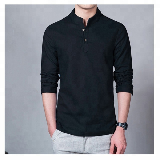 Casual Shirts Men's Clothing Imported From Abroad 2019 New Chinese Style Men Shirt Long Sleeve Solid Casual Streetwear Men Shirt Man Cotton Linen Shirt Men Clothes High Safety