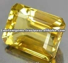 Citrine Emerald Cut Loose Stone Natural Yellow