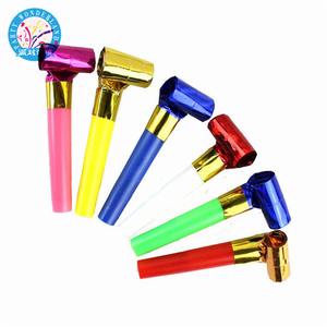 Hotselling laser multi color party blowout whistles kids birthday party favors decoration supplies goody bags pinata noicemaker