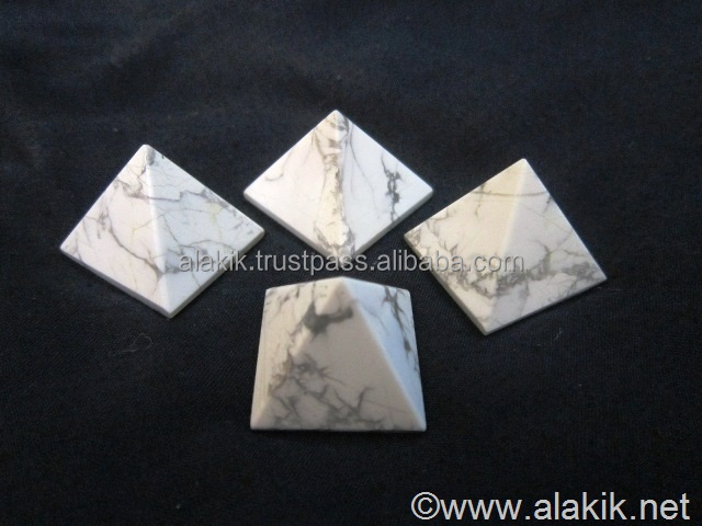 Wholesale Pyramids : Howlite pyramids 23-28mm : Metaphysical Products