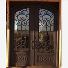 SEN-D197 Arch Top Wrought Iron Entry Door