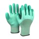 Breathable Spandex Knitted Crinkle Finger Strengthen Rubber Latex Coated Industrial Working Gloves