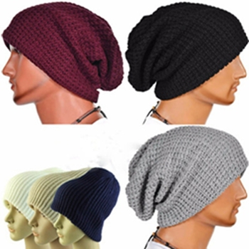 adbf16ca7e0cf 2018 Unisex Chic Men Women Warm Winter hat Knitted Skull winter hats  Slouchy Beanie Oversize Cap