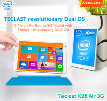 New arrival in Stock 9.7″ Teclast X98 Air 3G Dual system Tablet PC 2.16GHz Retina Screen 2048×1536 2GB RAM 32GB Phone Call