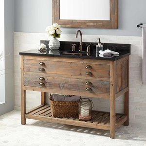 Promotional village waterproof marble bathroom cabinet with sink storage cabinets