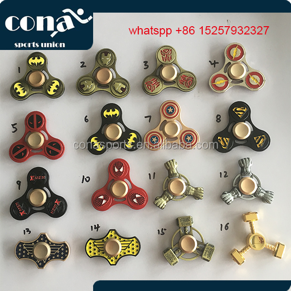 New design 2017 batman hero fidget spinner spider man hero fidget spinner superman hero fidget spinner with high speed