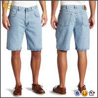 OEM wholesale extra durability Men's Rugged Wear Big Tall Relaxed Fit mens denim shorts