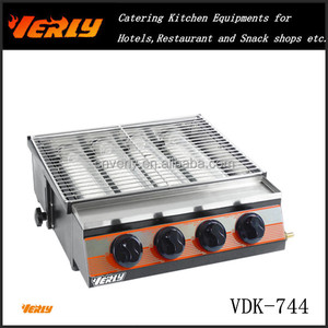 Power save gas Barbecue Oven/ 4 big head table top BBQ grill VDK-744