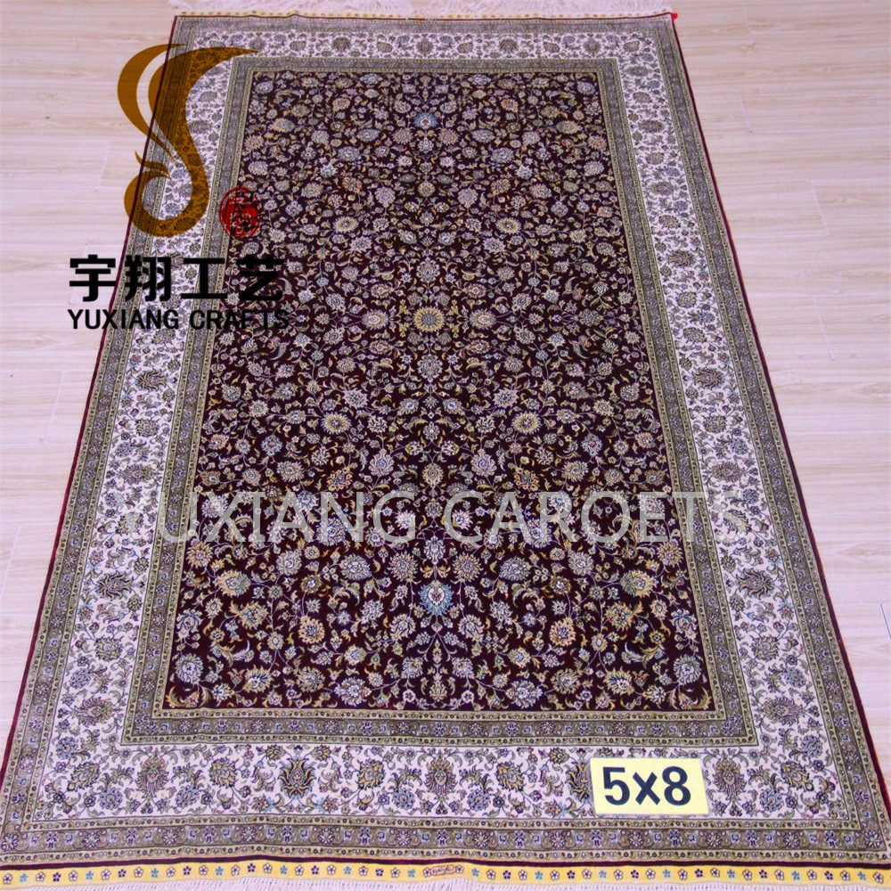 152cmx244cm pure silk persain hand knotted vintage turkish oriental rugs