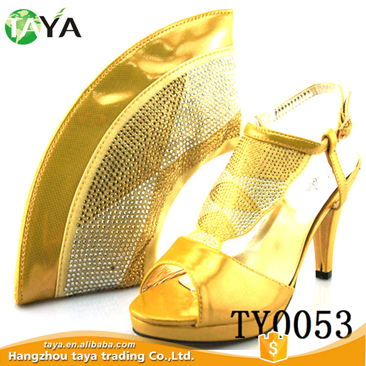 ty0053 bags heel sequins match shoes and gold high 50x8wx